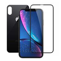 arka pil kapağı toptan satış-Ön Temperli Cam Kapak Renkli Arka Pil Kapı Tam Yapışkan iPhone Için en iyi Sürüm Ekran Koruyucu Film XS MAX XR X 8 7 Artı