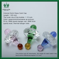 Wholesale Types Hats Caps - 2018 Wholesale Colored UFO carb cap for Quartz Banger 4MM Hat Style Dome for Thermal P Banger Nails Glass Bongs Dab Oil Rigs free shipping