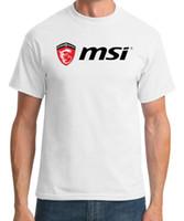 computadoras portátiles de la empresa al por mayor-MSI Gaming Laptops Company Camiseta de moda de verano para hombre Camiseta cómoda camiseta envío gratis al por mayor