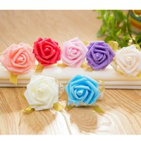 Wholesale bridesmaid gifts bride - Artificial Rose Wrist Flower Handmade Soft PE Bride Bridesmaid Real Touch Hand Flowers Fashion Wedding Party Gifts Decorations 0 6wm YY