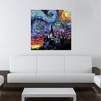 ingrosso tela di notte stellata-Starry Night cultura pop e contemporanea 02, artwork stampa su tela pittura murale moderna di alta qualità per quadri senza cornice