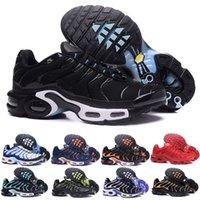 stoß silber großhandel-2018 brandneue Nike air max Vapormax TN Plus Freizeitschuhe klassischen Outdoor-Dampf TN schwarz und weiß Sport Auswirkungen Schuhe, Männer Anfrage für Olivenöl, Silber Metall