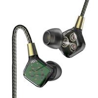 mega bass kopfhörer großhandel-Heißer verkaufender 1pc Navpeak klassischer Sechs-Maßeinheit dynamischer Kopfhörer-Flaggschiff-Inohr Kopfhörer HIFI super Mega- Baß-Kopfhörer