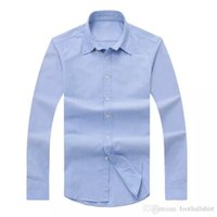 Wholesale Branded Dress Shirts - Wholesale 2017 autumn and winter men's long-sleeved Dress shirt pure men's casual POLO shirt fashion Oxford shirt social brand clothing lar
