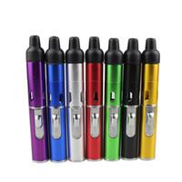 tütün kalem borusu toptan satış-Tıklayın N Vape bir toke buharlaştırıcı kalem gizlice Sigara Metal borular için sigara kuru ot Buharlaştırıcı tütün torch bütan DHL