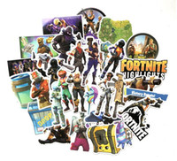 Wholesale luggage for laptops - 40pcs set Fortnite Games Stickers PVC Decals Waterproof Sticker for Laptop Luggage Scooter Laptop Car Decoration Wall sticker GGA741