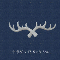 Wholesale Silicone Wall Hook - Wall Hanging Clothes Hook Creative Design Vintage Simulation Antlers Coat Rack Multi Color New 30yha Z R