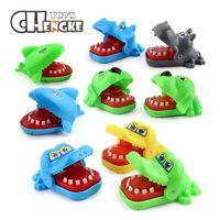 Wholesale toy crocodiles - Mini Crocodile Shark Dog Biting Finger Toys Funny Toys Creative Tooth Alligator Bite Hand Toys Children's Gift