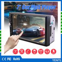 tv digital para aparelhos estéreo de carro venda por atacado-Frete grátis YENTL 2 Din Car Player de Vídeo Do Carro DVD 7 polegada Bluetooth Rádio FM MP5 Player