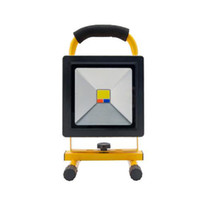 Wholesale Led Ip54 - 30W led Portabled rechargeable floodlight waterproof IP54 emergency light camping lamp red and blue emitting color 8v battery work light
