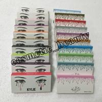 Wholesale model strips - 2018 kylie False Eyelashes 20 model Eyelash Extensions handmade Fake Lashes Voluminous Fake Eyelashes For Eye Lashes Makeup Free shipping
