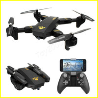 Wholesale XS809W Quadcopter Aircraft Wifi FPV G CH Axis Altitude Function RC Drone with P HD MP Camera RC Toy Foldable Drone