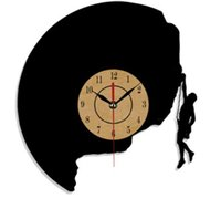 Wholesale climbing wall decor for sale - Rock climbing Lp Vinyl Wall Clock Modern Home Decor Crafts Creative Handmade Gift Office Decoration Clock Size inches Color black
