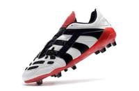 botas de futbol clasicas al por mayor-Botas de fútbol originales Botines de fútbol Predator Acelerador Electricidad FG 98 Botas de fútbol clásicas Messi Blanco Negro Zapatilla de deporte
