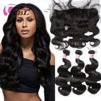 Wholesale wavy hair sale for sale - Group buy 3 Bundles Body Wave Hair With Frontal Natural Black Brazilian Wet And Wavy Hair Bundles Cheap Hair Weaves Extensions For Sale