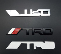 Wholesale decal car trd - Black Sliver TRD Auto Car TRD Badge Emblem Decal 3M Glue Sticker