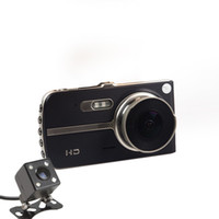 Wholesale Ips Fhd - car dvr camera 4'' IPS Screen FHD 1080P Front + Rear 290 Degree Angle Car Dash Cam with G