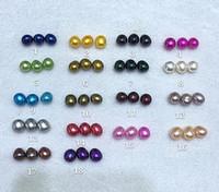 ingrosso belle perle-20PCS perla di riso 7-8mm perla ovale d'acqua dolce sfusa colore misto con bei colori per fare gioielli su Natale