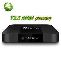 ingrosso la migliore casella tv mxq-Amlogic S905W TV Box TX3 Mini 1GB 8GB Miglior Box TV per Internet Android 7.1 migliore di MXQ PRO Supporto TV 4K Box 4K H.265 1080P Meglio MXQ PRO