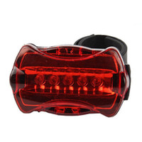 Wholesale bike light for sale - 5 Led Red Warn Bicycle Taillight Attract In Night Riding Led Battery Power Bike Taillight For Warn Accessories Lamp xd ZZ