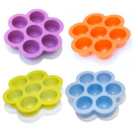 Wholesale cube 11 resale online - Creative Holes Storage Box With Lid Flower Shape Silicone Ice Cube Tray Mold Kitchen Baking Tool yc Y