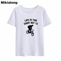 kadınlar beyaz tişörtler toptan satış-Kadın Tee Mrs Win Hayat Çok Kısa Moda Kadın Tshirts Değil Pamuk Siyah Beyaz T-shirt Kadın Pamuk Casual O-Boyun Kadın Tees Tops