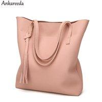 tassel leather handbag Australia - Ankareeda Women's Soft Leather Handbag High Quality Women Shoulder Bag Luxury Brand Tassel Bucket Bag Fashion Women's Handbags