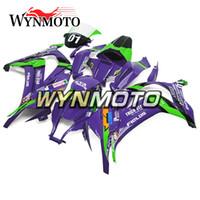12 carenados morados al por mayor-Verde Purple NO.01 Carenados del casco aptos para Kawasaki ZX10R Año 2011 - 2015 Carenado ABS Inyección Cubiertas de alta calidad 2011 12 13 14 15 Paneles