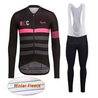 siyah uzun kollu bisiklet formaları toptan satış-En kaliteli pro team BİK Erkekler bisiklet formaları Yarış bisiklet giyim Kış termal polar uzun kollu MTB bisiklet giyim Siyah D0303