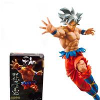 Wholesale toy son goku - No Box 20cm Dragon Ball Z Super Ultra Instinct Goku Son Gokou PVC Action Figure Collectible UI Model Doll Toy Brinquedos Figuarts Gift