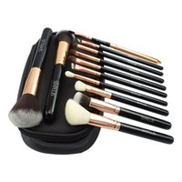 Wholesale Professional Styling Brushes - 2017 New Arrivals Attractive Sixplus Coffee Color Luxury Style Makeup Brush 12pcs Professional Make Up Brush Set