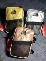 bolsas designer metálico venda por atacado-Moda sacos de ombro 18SS Metallic Shoulder Bag homens Mulheres Sacos De Designer De Cintura Saco De Fanny Packs Cinto Sacos De Bolsa No Peito wsda