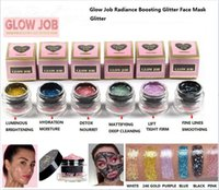 Wholesale Glitter Masks - New TF faced 6 colors Radiance Boosting glow job mask Glitter face mask with real gold 30 minutes relaxing smooth soft facial reveal 50ml