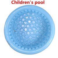 aufblasbarer fischball großhandel-2018 130 cm hohe qualität drei ring PVC kinder aufblasbare pool baby pool schwimmen fischen marine ball