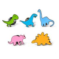 ingrosso perni gialli-Cute Spilla Dinosauro Giallo Spinosaurus Dinosauri Smalto Pin Spilla Distintivo Zaino Camicia Colletto Decor Donna Uomo Accessori