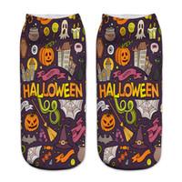 ingrosso grande stampa 3d-Calze modello Halloween calze a pipistrello stampate a forma di pipistrello, calze da donna, calzettoni, calze da uomo, calze da barca