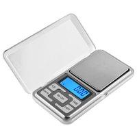 mini dijital ağırlık tartıları toptan satış-Taşınabilir 200g x 0.01g Mini Dijital Ölçeği Takı Cep Perakende Paketi ile Denge Ağırlığı Gram LCD
