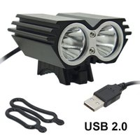 кольцо под фарой оптовых-USB Bike Light Solarstorm Cycling lamp 2 X T6 LED 5000 Lumen Bicycle Light headLamp + O ring (without battery charger)