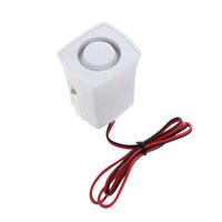сирена для домашних аварийных сигналов оптовых-Loud One Tone 105dB 12V Small Mini Siren Alarm Security Home Car Motorcycle For Home Security Alarm System