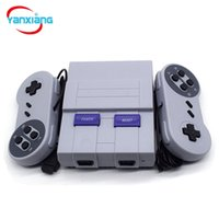 Wholesale tv av controller - 20PCS Wholesale TV Mini Handheld Game Consoles AV Out Video Console 2 Controllers Portable Game Players for Kids SFC Games YX-400-A