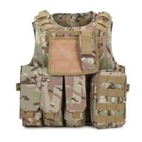 uniforme del ejército camo al por mayor-Chaleco táctico Ejército SWAT Uniforme Molle Combat Camuflaje chaleco Equipo de trabajo Hunter Protección Camo