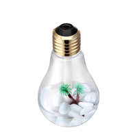 ingrosso ha portato l'aria della lampadina-Umidificatore ad ultrasuoni USB umidificatore a forma di lampadina da 400 ml deodorante per auto con luce notturna a LED