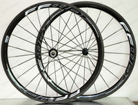 Wholesale light road bike wheels for sale - 700C super light Climbing carbon wheels mm depth mm width clincher Tubular Road bike carbon wheelset UD matte finish FFWD R decals