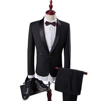 Wholesale collar designs for wedding dresses for sale - Men Wedding Suit Male Groom Suit Latest Coat Pant Designs Slim Fit Mens Dress Suits Brand Shawl Collar Black Tuxedos For Men Q85