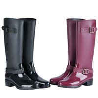 bottes punk talons achat en gros de-New Fashion Women Shoes Punk Style Heel Riding Boots Zipper Shoes Knight Tall Boots Women Rain Boots Large