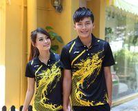 schnell li großhandel-Neue Li-Ning Mann- / Frauenbadminton-Hemden, chinesische Drache Tennis-Polyester-schnelle trockene Badminton-Kurzschlüsse, Männer Tischtennis Sportwear Jerseys Kurzschlüsse