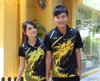 Wholesale chinese dragons - New Li-Ning Men Women badminton Shirts,Chinese dragon Tennis Polyester fast dry Badminton Shorts,men Table Tennis Sportwear jerseys Shorts