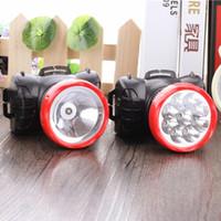 ingrosso ha portato la luce della protezione dei minatori-Impermeabile LED Miner Lampada frontale LED Miner Cappuccio di sicurezza Lampada da miniera Luce faro Ad alta capacità Ricaricabile Lampada frontale per Caccia