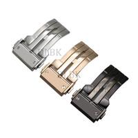 hebillas de cuero de la venda del reloj al por mayor-20 mm 22 mm 24 mm hombres mujeres de acero inoxidable de alta calidad banda de despliegue de reloj hebilla correa de silicona de cuero para la serie BIGBANG