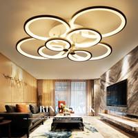 ingrosso luce luminosa camera da letto-Plafoniere a led moderne a LED per soggiorno camera da letto a led luminarie per sala dimmer plafoniere a led